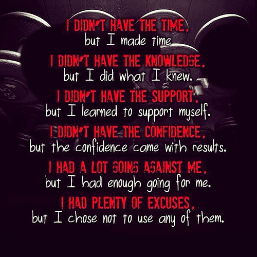 Fitness vs Excuses